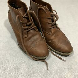 Born In California Ankle Boots Size 8 Brown Women's Booties 3 Inch Heel Used $24.55