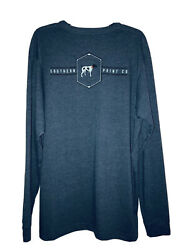 Southern Point Co. Men#x27;s XL Blue Pointer Dog Long Sleeve Graphic Tee T shirt $24.99