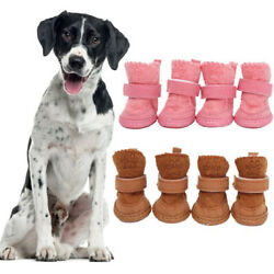 Pet Dog Boots Warm Winter Puppy Shoes Protective Anti slip Apparel for Small Dog $5.99