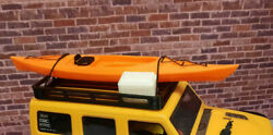 Kayak and Cooler with Roof Rack Orange 1 24 scale SCX24 3d printed RC prop USA $24.95