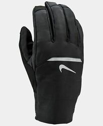 $135 Nike Men#x27;s Black Dri Fit Touch Screen Athletic Winter Running Gloves Size M $19.21