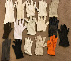 Lot of 16 Women#x27;s Vintage Gloves All Misfit One Glove Each $9.99