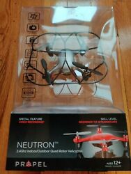 Propel RC Neutron 2.4GHz Indoor Outdoor Quad Rotor Helicopter HD Video Camera $14.95