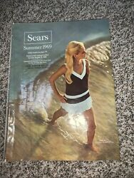 1969 Summer book SEARS AND ROEBUCK catalog with fashion clothes shoes $39.99