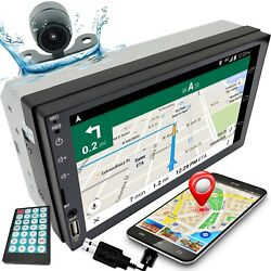7quot; 2DIN Car Stereo Radio D Play Touch Screen USB MP5 Player Mirror Link w Cam C1 $82.85