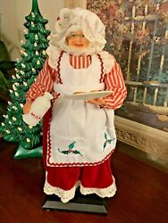 Decorative Mrs. Claus Figure Milk Cookies Collectible Christmas Decor Box F $19.99