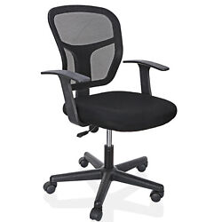 Swivel Mid Back Office Chair Computer Desk Black Ergonomic Executive Mesh Chair $51.99