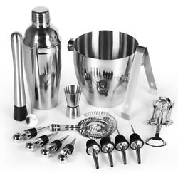 16 Piece Mixology Bartender Kit Cocktail Martini Shaker Set Bar Tool Set $26.99