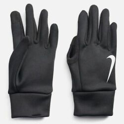 NEW $134 Nike Men Black Therma Fit Stretch Winter Running Thermal Gloves Size L $19.46