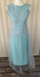 Unbranded Possible Handmade Prom Party Formal Dress Light Green Embossed Junior $13.97
