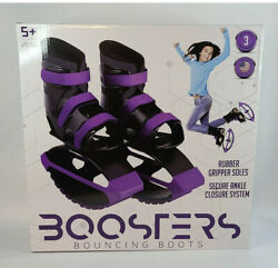 Madd Gear Boosters Bouncing Boots Purple amp; Black Rubber Soles Youth Size 3 6 $39.99