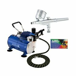 Master Airbrush Multi purpose Gravity Feed Dual action Airbrush Kit with 6 Fo... $119.99
