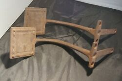 Antique Vintage Cast Iron Horse Drawn Buggy Wagon Foot Steps Primitive  $30.00