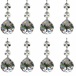 10pcs Clear Crystal Glass Ball Chandelier Prisms Pendants Parts Beads20mm $17.09
