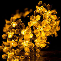 22.96ft Solar String Light 50 LED Blossom Lamp Beads 2 Models Rainproof US $10.88