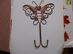 collectible vintage brass butterfly wall hanger w 2 hooks to display an item s $7.75