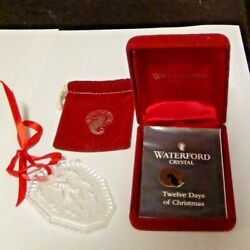 WATERFORD CRYSTAL 12 Days of Christmas Ornament 11 Pipers Piping 1994 w Box $10.00