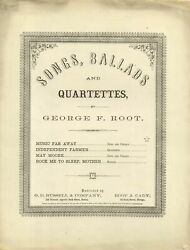 George F Root Rock Me to Sleep Mother Sheet Music 1861 $78.00