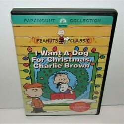 I Want a Dog for Christmas Charlie Brown DVD 2004 $9.99