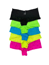 5 PACK New Womens Low Rise Lace Cheeky Brief Supersoft Underwear Panties M XXL $9.59