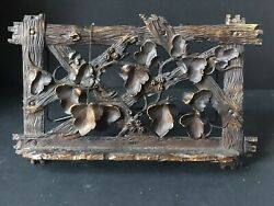 Vintage Style CHAMONIX Leaves BOOK Stand EASEL DISPLAY Antique Holder WOOD STYLE $59.95