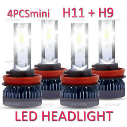 LED Headlight Bulbs Bright White for Chevy Malibu Impala H11 H9 High Low Beam $14.99