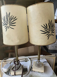 vintage mid century pair lamps $285.00