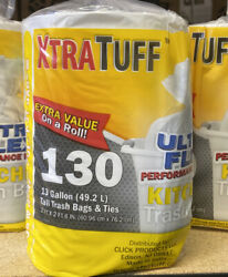 Trash Bags Xtra Tuff Ultra Flex 13Gal. 130ct. BPA FREE Kitchen Bags $24.99