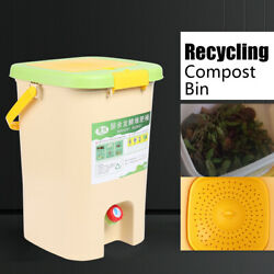 21L Compost Bins Bokashi Bucket Food Waste Garden Recycle Compos Indoor Kitchen. $58.00