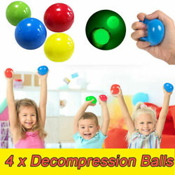 4Pcs Sticky Balls Wall for Ceiling Stress Relief Globbles Stress Kids Toys US $9.59