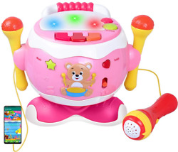 Rabing Baby Musical Toy Drum 5 in 1 Toddler Musical Instruments Toy With Mic $31.99