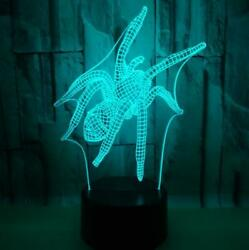 Spider 3D Light 7 Color Night Light Touch Acrylic Bedroom Decorative Lamp Gifts $18.99
