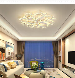 Acrylic Ceiling Cool Warm Neutral Light Branch Shade LED Chandeliers Home Lights $45.00