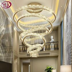 Luxury Living Room Modern Chandelier Lighting Large Staircase LED Crystal Lamps $363.09