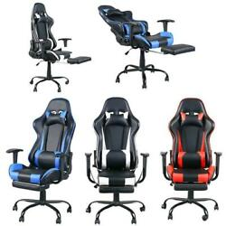 High Back Racing Style Gaming Chair Reclining Office Executive Task Computer New $105.99