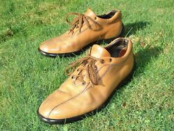 TOD#x27;S SHOES LEATHER TOD#x27;S SIZE 9 USA 10 EU 43 10 NATURAL TAN 10 EYE LACEUP ITALY C $33.33