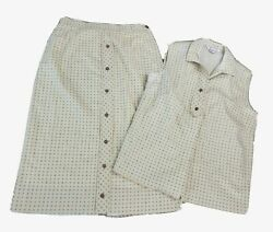 Vintage Outfit Matching Set Skirt amp; Top by Suburban Set for Fabric $19.98