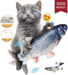 Electric Moving Cat Kicker Fish Toy Realistic Flopping Fish Wiggle for Pet Cats $9.99