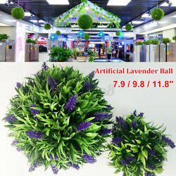 11.8#x27;#x27; Artificial Tulip Flower Ball Long Grass Leaf Topiary Hanging Basket $11.28