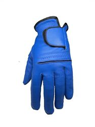 ****New**** Mens Blue ALL Leather Cabretta Golf Gloves Left Hand $9.75