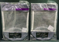 Lot of 2 Mary Kay Believe Life Can Be Wonder Full Bags Mesh Tall Black White $13.26