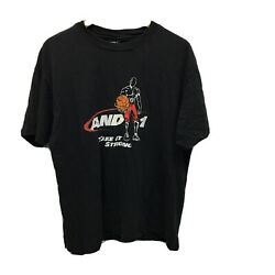 Vintage And1 Take It Strong Basketball Tshirt Black Size XL $35.00