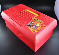 1995 Suncast Red Pokemon Card Tackle Box USED $50.00