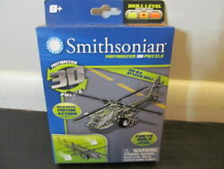 Smithsonian Motorized 3D Puzzle AH 64 Attack Helicopter for Ages 6 $7.95
