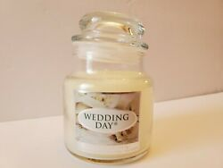 Yankee Candle Wedding Day Small Glass Jar Candle 3.7 oz White Wax Retired NEW $18.99