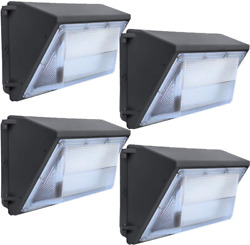 Led Wall Pack Lights 120W 4 Pack 15600Lm Outdoor Commercial Lighting Fixture W