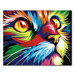 BOSHUN Paint by Numbers Kits with Brushes and Acrylic Pigment DIY Canvas for Cat $15.96