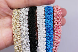 French Gimp Braid Trims Gold Silver Pink Blue White Black BOHO DIY 7 16#x27;#x27; 6 yard $21.99