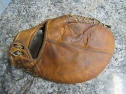 Vintage Wilson Spalding glove left hand throw first base mitt trapper model $79.00