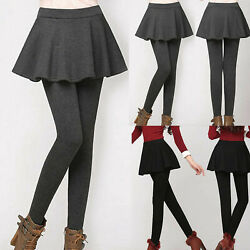 Plus Size Women Fake Two Piece Skirt Pants Skinny Slim Leggings Pencil Trousers $13.59